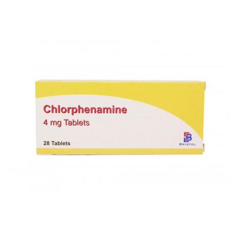 Chlorphenamine 4mg Hayfever And Skin Allergy Relief (28 Tablets)