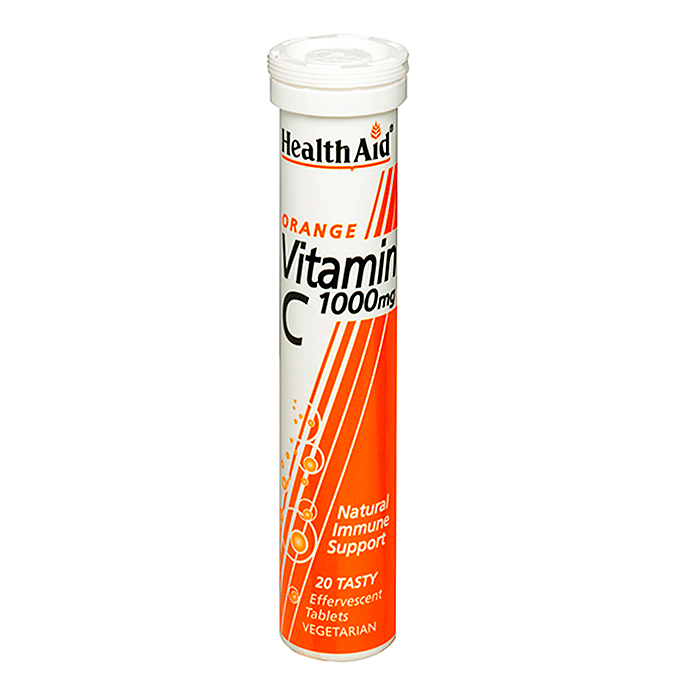 HealthAid Vitamin C 1000mg - Effervescent (Orange Flavour)